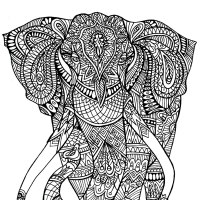 Hard Coloring Pages Elephant Coloring Pages