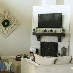 Best Diy Faux Shiplap Fireplace Tutorial