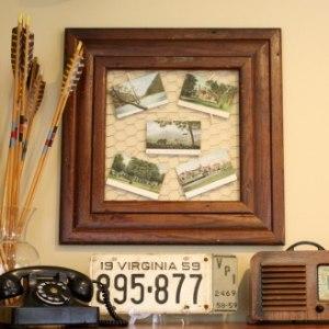 Beautiful Antique Post Card Display