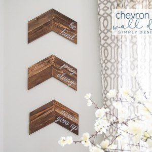 Elegant  Customizable Chevron Arrow Wall Decor