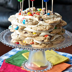 MM Cookie Stack Cake