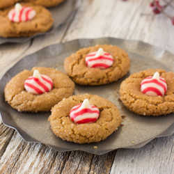 Reindeer Noses Candy Cane Gingerbread Cookies Oh Sweet Basil