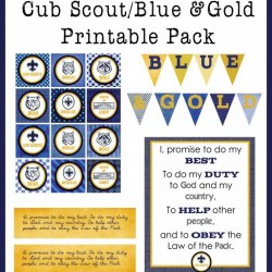 image about Cub Scout Printable Activities identified as Cub Scout Blue Gold Banquet Designs - Contentment is Home made