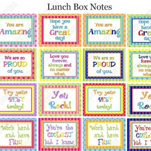 photo about Free Printable Lunchbox Notes named Back again-in the direction of-Faculty Lunch Box Jokes Notes - Joy is Handmade