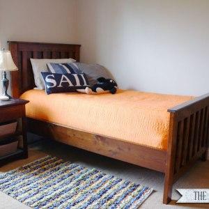 Vintage  DIY Restoration Hardware Twin Bed