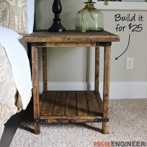Fixer Upper DIY Style Free DIY Furniture Plans - How to build an end table