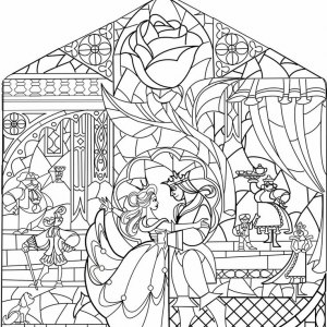 39 Beauty And The Beast Glass Coloring Page