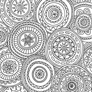 Free Adult Coloring Pages: Detailed Printable Coloring Pages for ... | 300x300