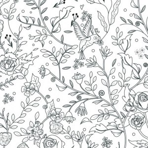 free coloring pages of flowers | 300x300
