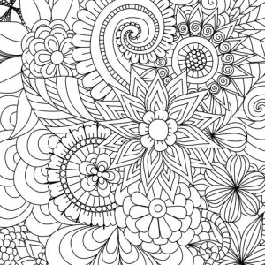 11 free printable adult coloring pages 88 - Free Printable Flower Coloring Pages For Adults