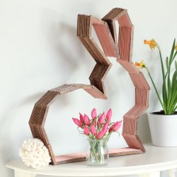 Diy Modern Bunny Wall Decor Perfect For Easter Or A Nursery