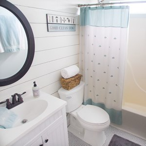 12 Bathroom Inspirations and DIY's - The DIY Village on gray front stoop designs, gray wall designs, gray colored bathrooms, gray living room interior, gray tables, updated bathrooms designs, master bedroom designs, gray color designs, gray painted bathrooms, gray office design, gray bedroom, gray painting, gray marble bathrooms, gray closets, gray room designs, gray interior designs, gray foyer designs, gray photography, gray bath, gray living room decorating,