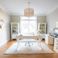 10 One Room Challenge White And Gold Home Office Reveal