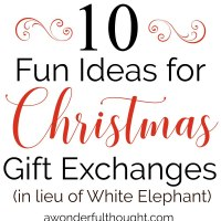 Christmas Gift Exchange Ideas A Wonderful Thought
